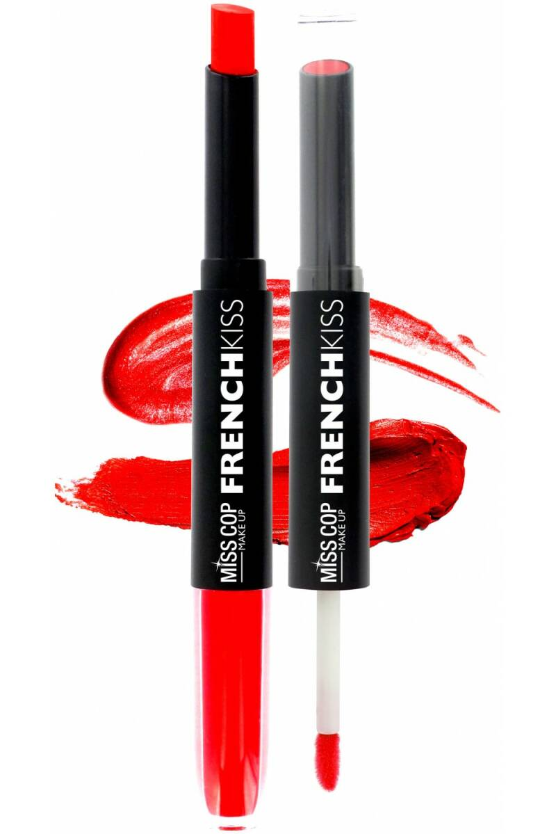 Miss Cop FRENCH KISS Duo Gloss & Lipstick 03 Red