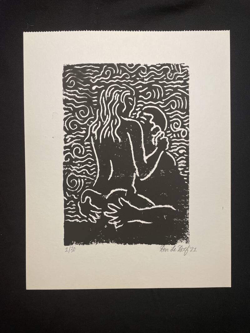 "Linoleum ""LOVE"" 1 