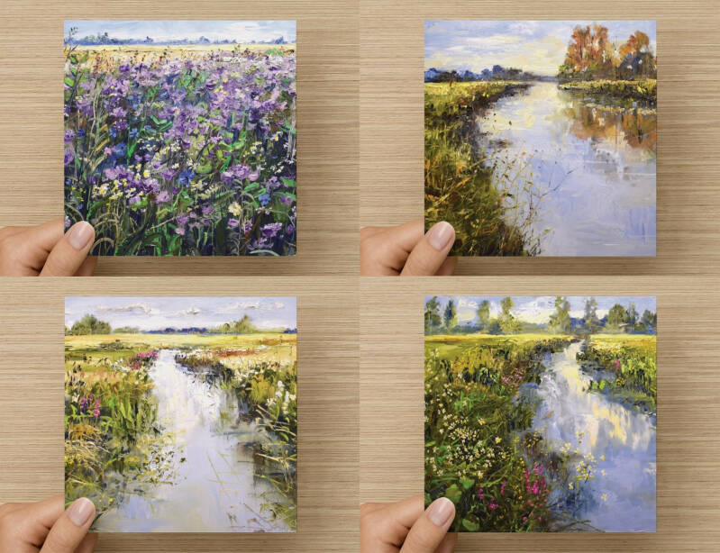 """4x Art Cards (set 1)"""