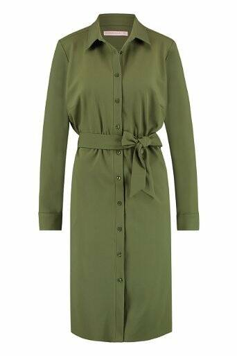 Studio Anneloes Loopy bonded dress - army