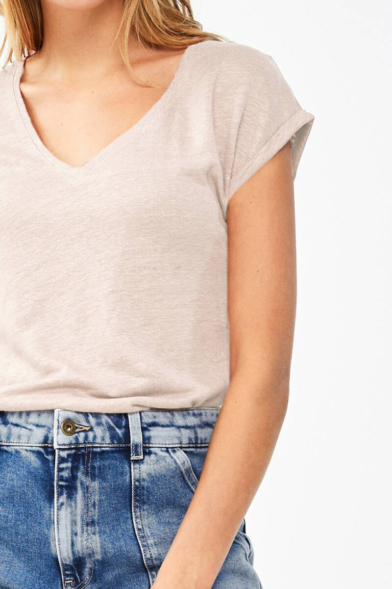 By Bar Mila linen top - oyster