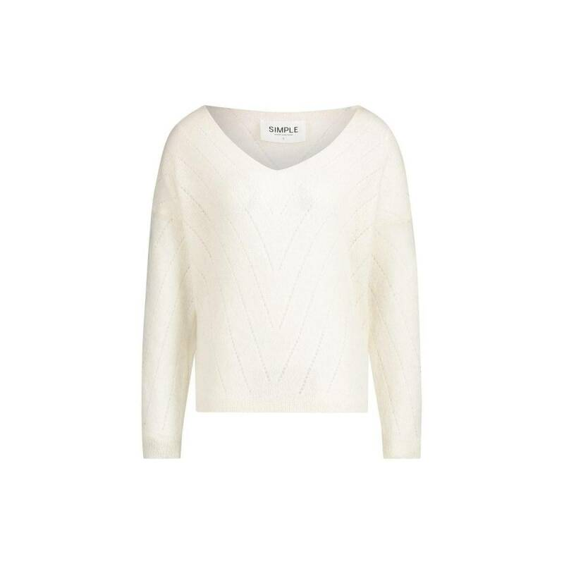 AW22 Simple Vinc knitted sweater off-white