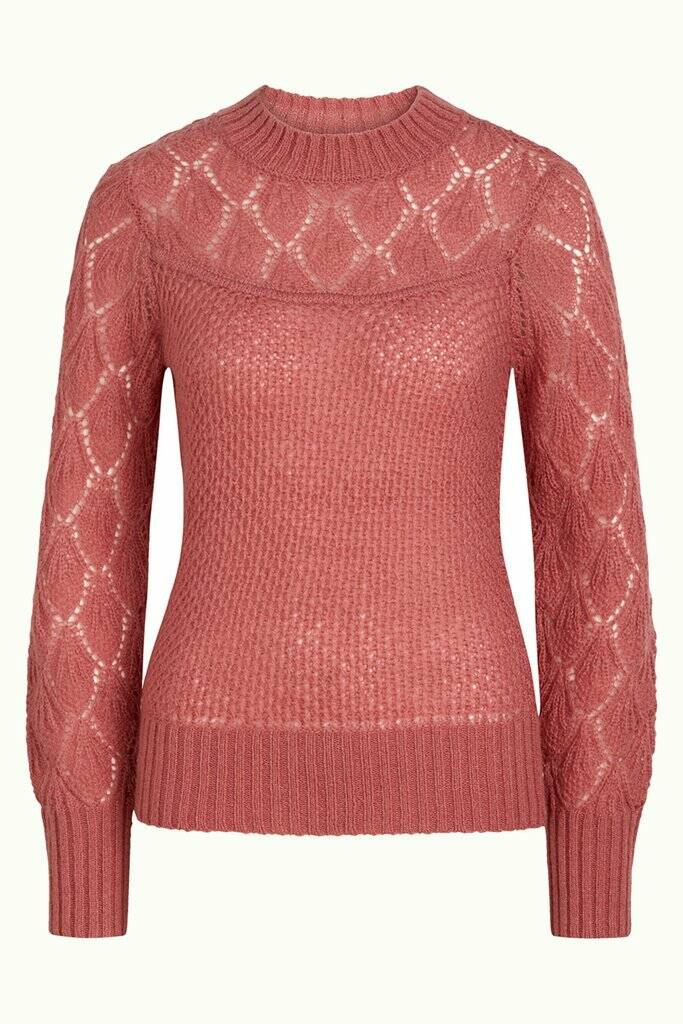 AW22 King louie sweater Farfale Berry Pink