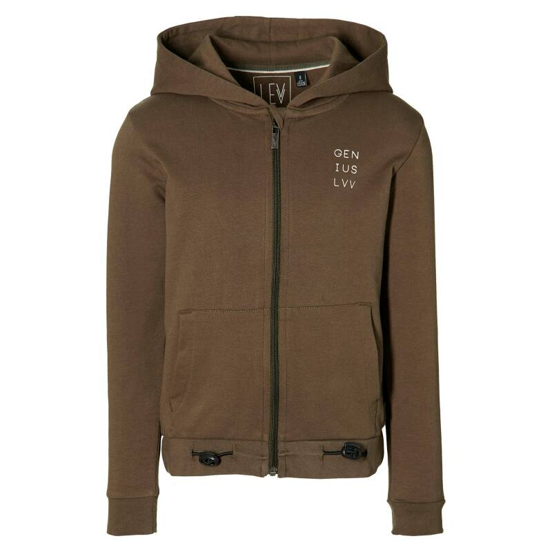 SS21 Levv Boys Hooded Cardigan Mees Olive