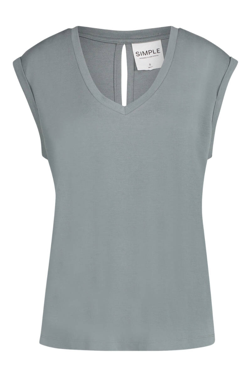 SS21 Simple Pheline  top pique-heavy mineral  green