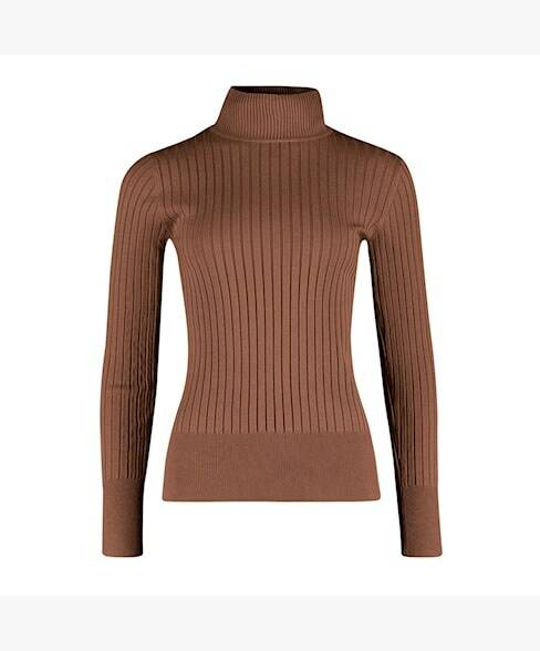 AW22 Red Button turttle neck top brow