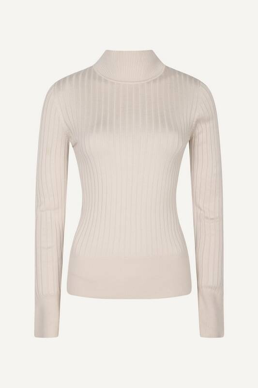 AW22 Red Button Turtle Neck Top SRB2940 ecru