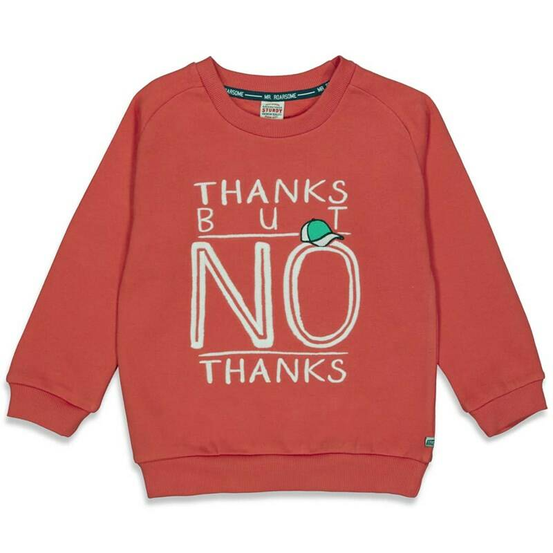 AW22 Sturdy Sweater Thanks rood 71600432