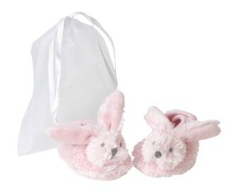 Pink richie slippers in giftbag