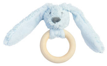Blue rabbit richie FSC wooden theething ring