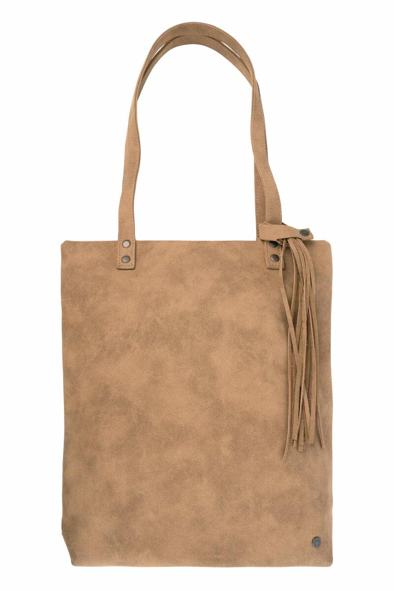Basic shopper met kwast - kaki