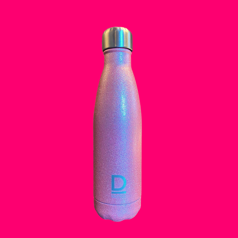 D-Bottle luxe waterfles Glitter pink 💝