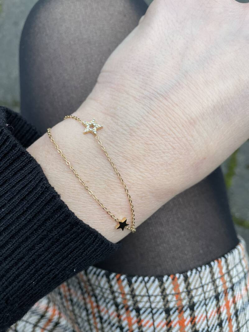 Armband dubbel ster