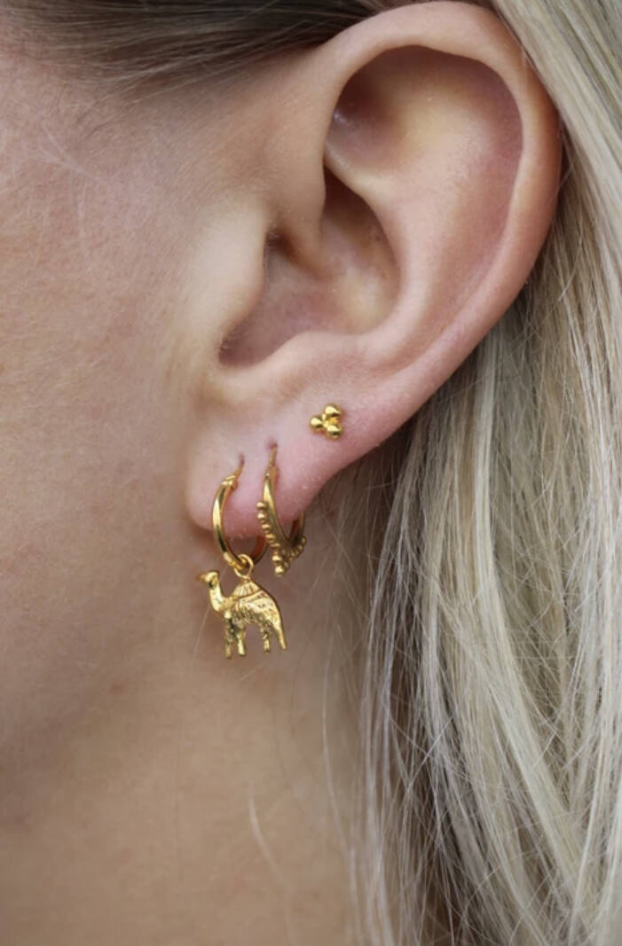 Oorbellen Three Dots earstud goldplated