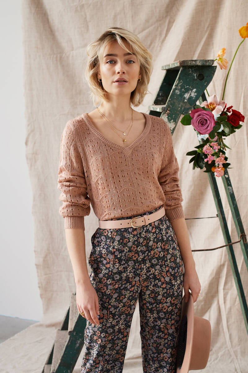 Knitted Sweater Savannah Soft Pink