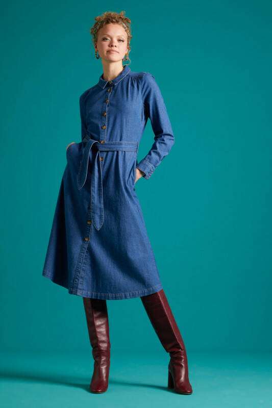 KING LOUIE OLIVE DRESS CHAMBRAY