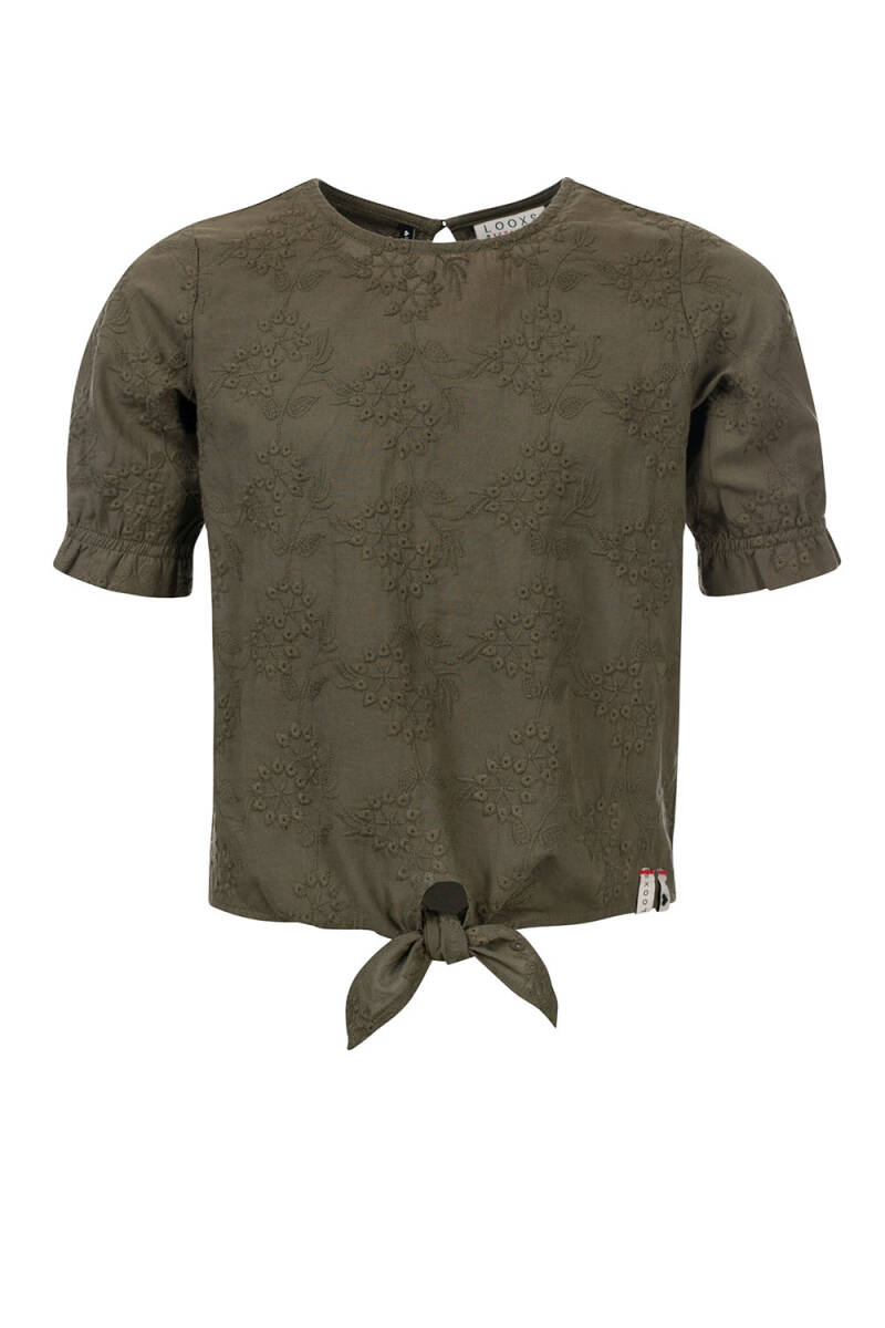 Looxs Revolution Looxs 10Sixteen Knoop Top Broderie Anglaise