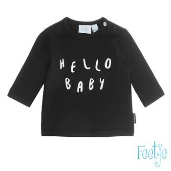 Feetje Longsleeve hello baby Made with love