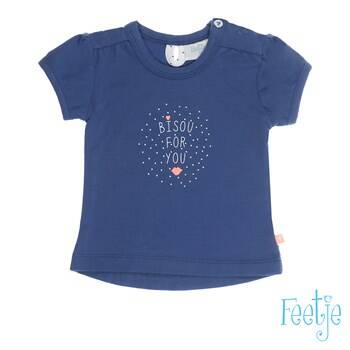 Feetje T-shirt k/m Bisou for you