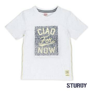Sturdy T-shirt k/m flipping artwork Sunray White
