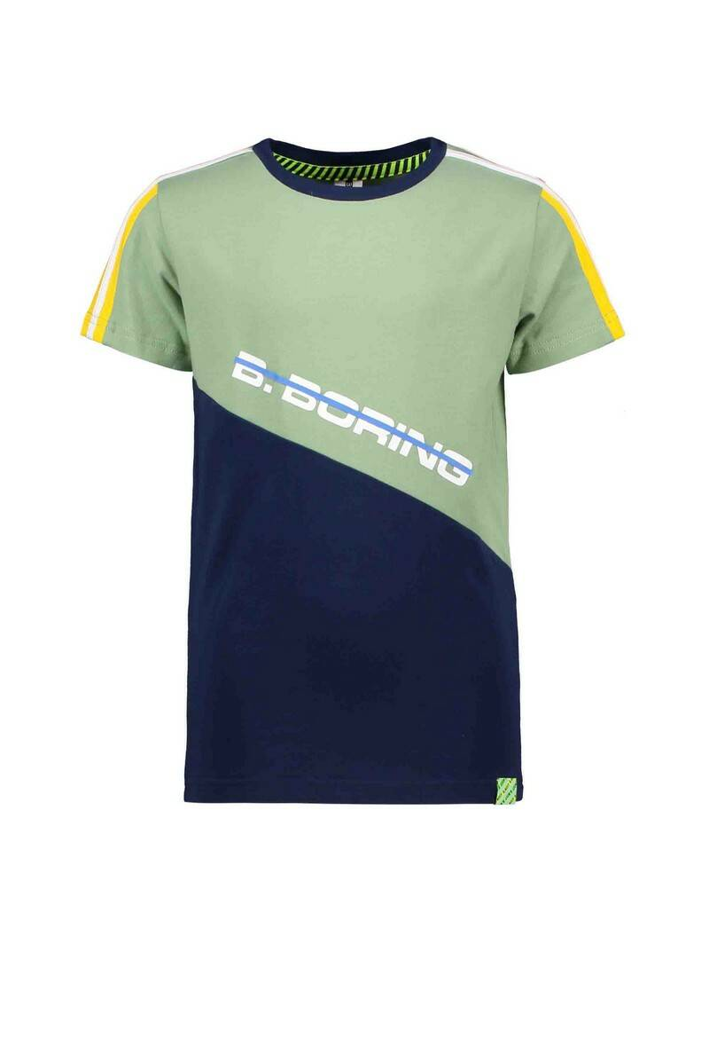 B Nosy T-Shirt With Slanted c&s Green