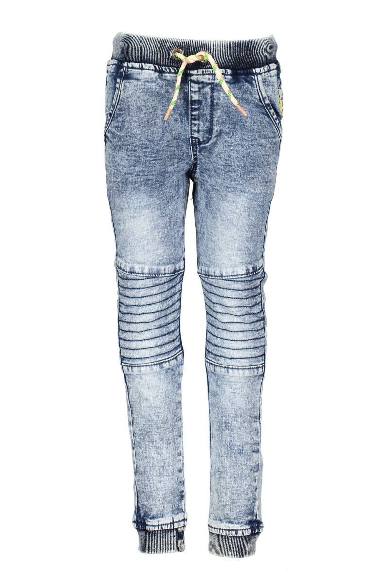 B Nosy Boys denim pants with quilted knee part  116 - Ocean denim 002