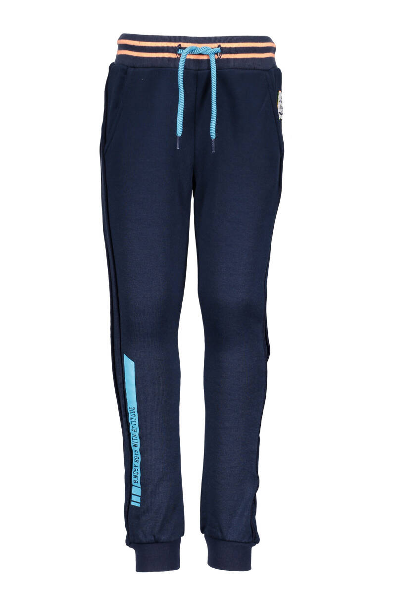 B Nosy Boys sportive pants with piping on the side  170 - Midnight blue