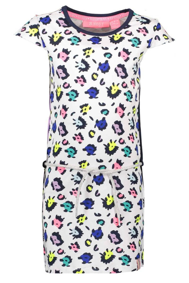 B Nosy Girls multi color panther dress