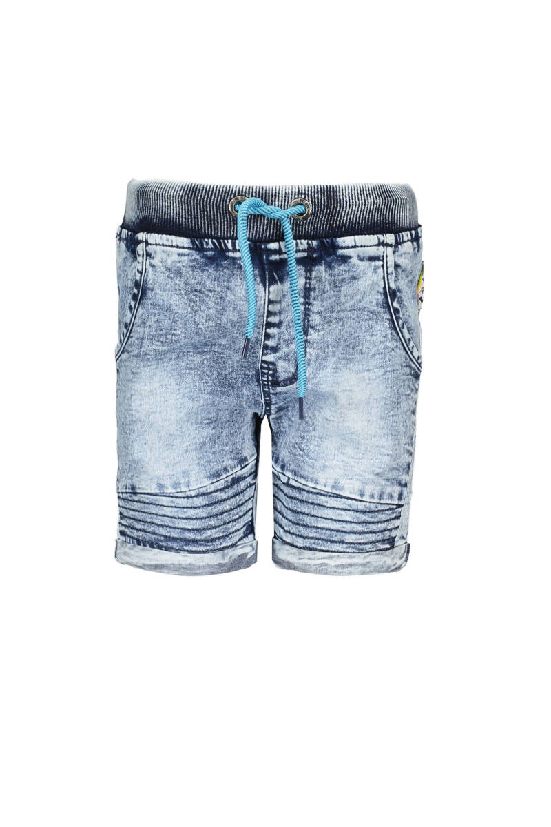 B Nosy Boys short pants with rope in waistband  118 - Light denim 001
