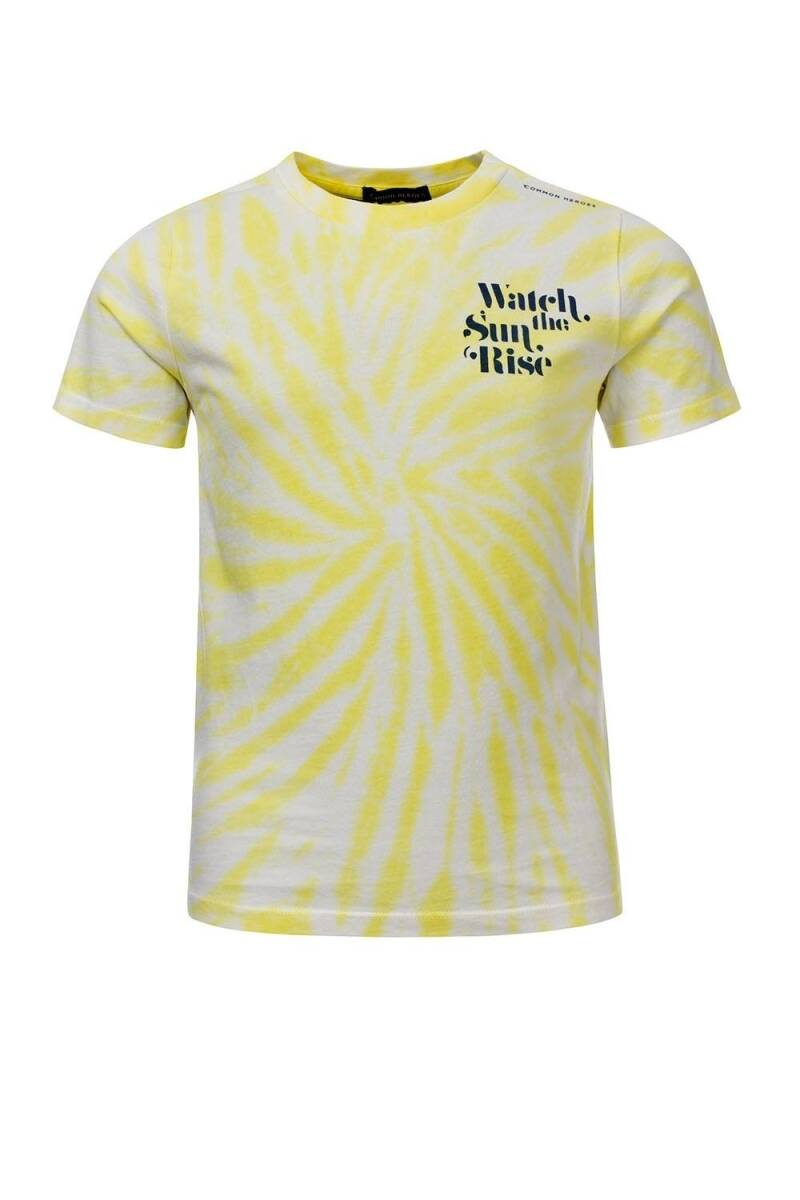 Common Heroes Tie Dye T-Shirt Lemon