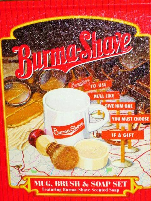 Burma shave set 3 delig in klassiek blik.Collectors item!!
