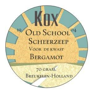 Kox Old School Bergamot scheerzeep in Alu pot van 70 gram.