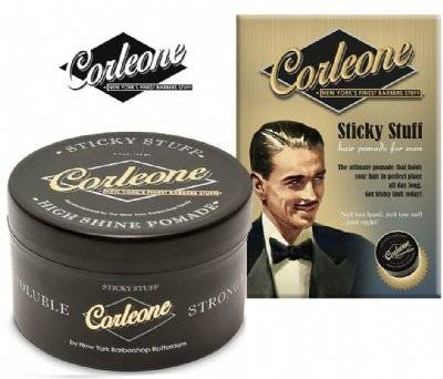 Corleone Sticky Stuff High Shine pomade Stron hold.-100 gram