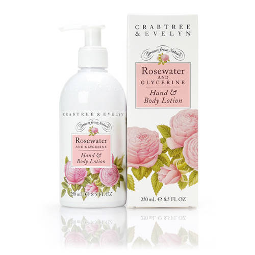 Crabtree&Evelyn Rosewater Hand&Body lotion-250ml-Dames