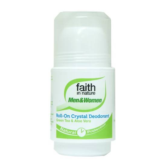 Faith in Nature Deo roller Groene Thee&Aloë Vera-50ml