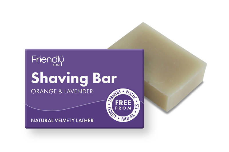 Friendly Orange&Lavendel scheerzeep 95 gram-Vegan