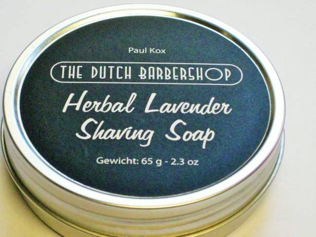 Dutch Barbershop Herbal Lavendel scheerzeep in blik 65 gram.