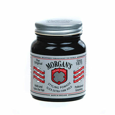 Morgans Styling pomade extra firm hold in glazen pot van 100 gram