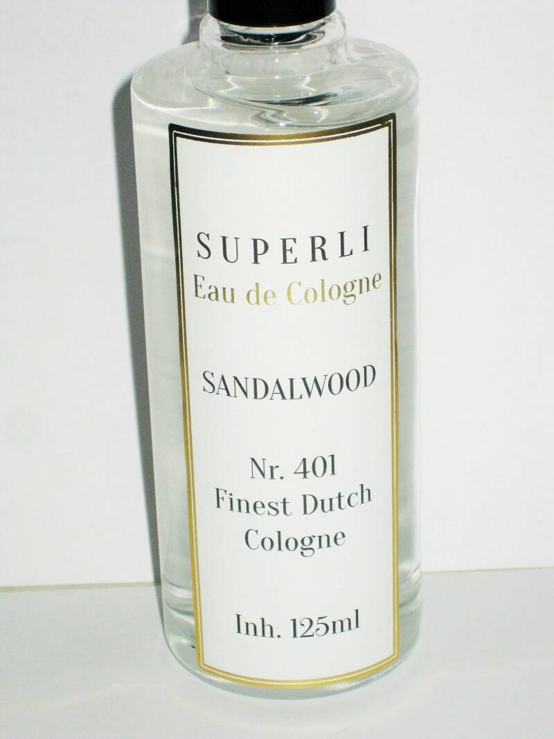 Superli Sandalwood Eau de Cologne-125ml-No.-70% alcohol.