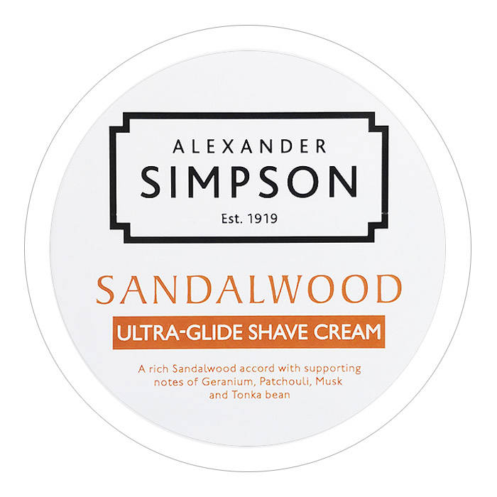 Alexander Simpson 1919 Sandalwood Glide Scheercréme Soap 180ml-New