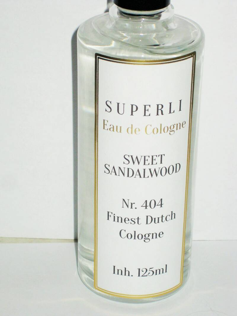Superli Sweet Sandalwood Eau de Cologne-125 ml-70% Vol.No.404-Nieuw