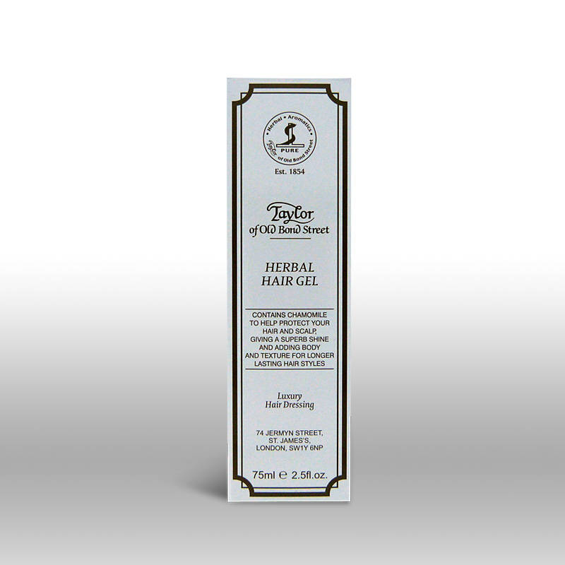 Taylor of Old Bond Street Herbal Haar Gel in tube van-75 gram.