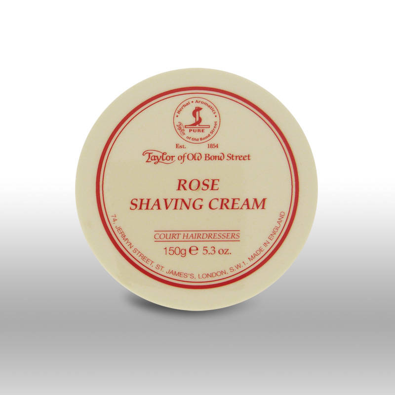 Taylor of Old Bond Street Rose scheercréme in pot van 150 gram.