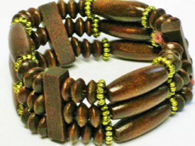 Thai houten armband 3 laags-No.1050