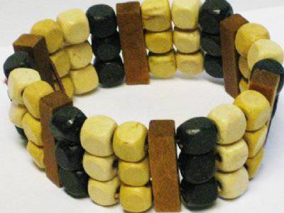 Thai houten armband 3 laags-No.1070