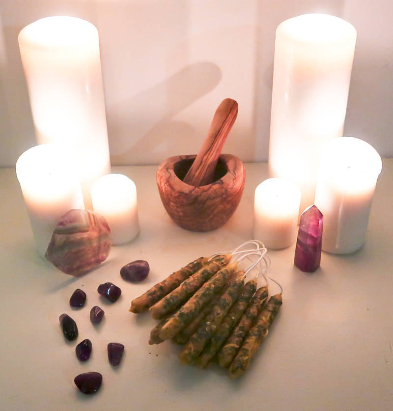 Prophecy ritual candle