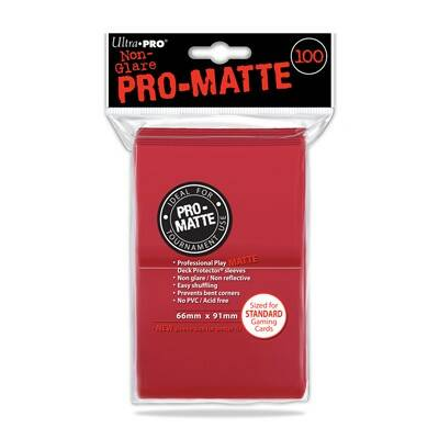 Pro Matte Red Sleeves (100)