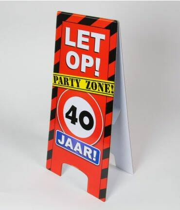 warning sign 40 jr