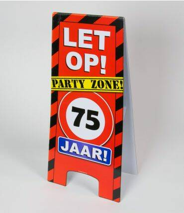 warning sign 75 jr
