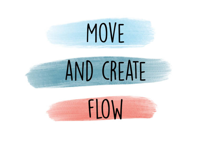 Move and create Flow - Postcard - Ansichtkaart - A002
